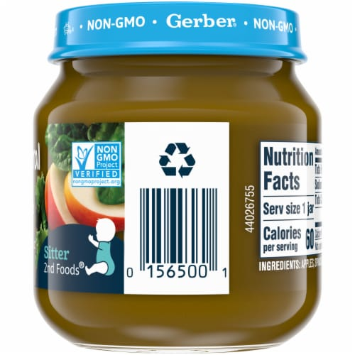 Gerber 2nd Foods Natural Apple Spinach & Kale Stage 2 Baby Food Perspective: right