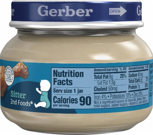 Gerber 2nd Foods Chicken and Gravy Stage 2 Baby Food Perspective: right