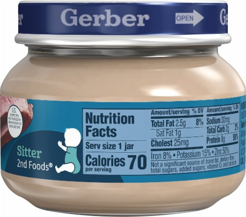 Gerber 2nd Foods Beef and Gravy Baby Food Perspective: right