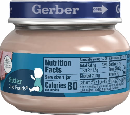 Gerber 2nd Foods Ham and Gravy Baby Food Perspective: right