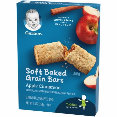 Gerber Toddler Apple Cinnamon Soft Baked Grain Bars Perspective: right