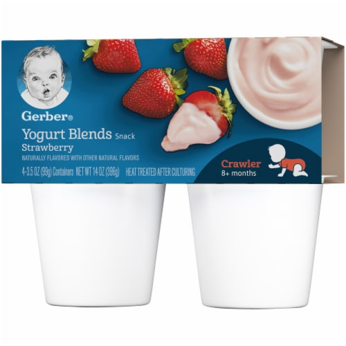 Gerber Strawberry Crawler Yogurt Blends Perspective: right
