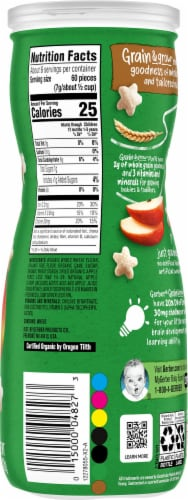 Gerber Organic Puffs Apple Puffed Grain Snack Perspective: right
