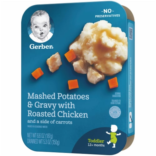 Gerber Mashed Potatoes & Gravy with Roasted Chicken Toddler Lil' Entree Perspective: right