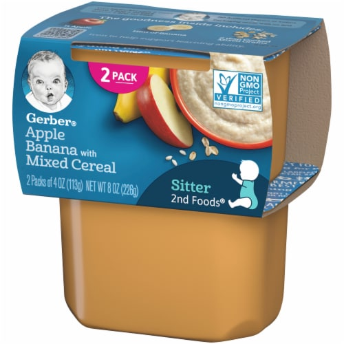 Gerber 2nd Foods Apple & Banana with Mixed Cereal Baby Food Perspective: right