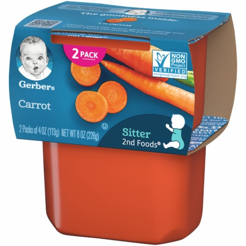 Gerber 2nd Foods Carrots Baby Food Perspective: right