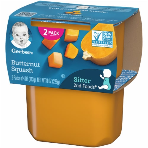Gerber 2nd Foods Butternut Squash Stage 2 Baby Food Perspective: right