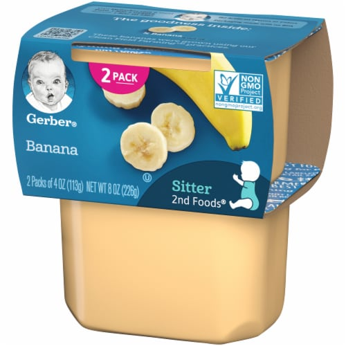 Gerber Banana Stage 2 Baby Food 2 Count Perspective: right