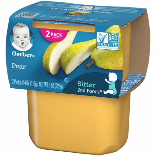 Gerber 2nd Foods Pear Baby Food Perspective: right