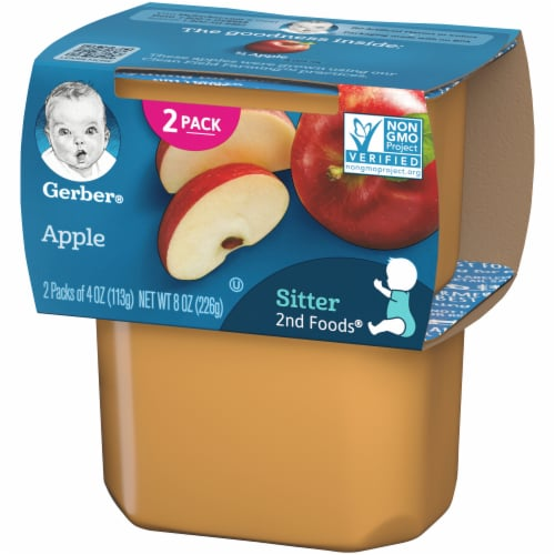 Gerber Apple Stage 2 Baby Food 2 Count Perspective: right