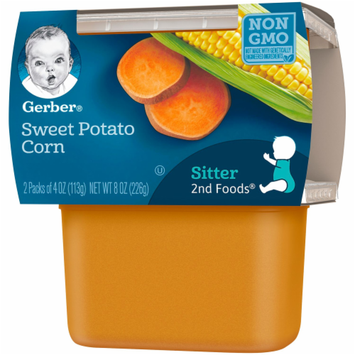 Gerber Sweet Potato Corn Stage 2 Baby Food Perspective: right