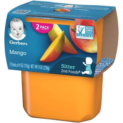 Gerber 2nd Foods Mango Baby Food Perspective: right