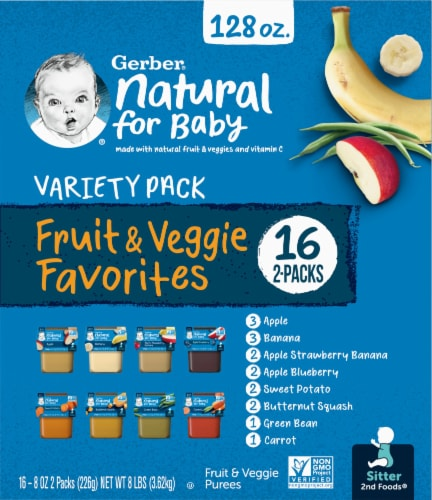 Gerber 2nd Foods Fruit & Veggie Favorites Variety Pack Perspective: right