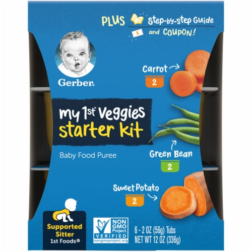 Gerber My 1st Veggies Starter Kit Baby Food Puree Assorted Perspective: right