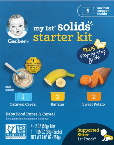 Gerber 1st Foods My 1st Solids Starter Kit Baby Food Perspective: right