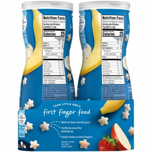 Gerber Crawler Puffs Banana Strawberry Apple Value Pack Perspective: right