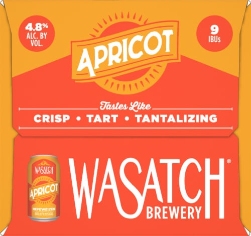 WaSatch Brewery Apricot Hefeweizen Beer Perspective: right