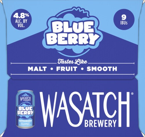 WaSatch Brewery Blue Berry Hefeweizen Perspective: right