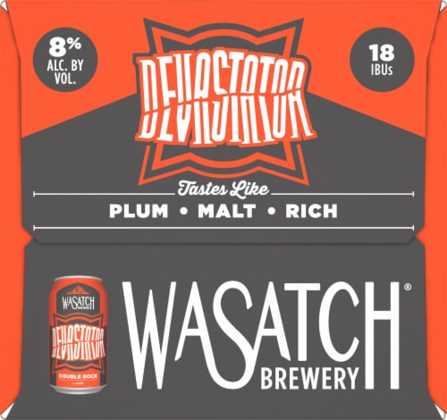WaSatch Brewery Devastator Double Bock Lager Perspective: right