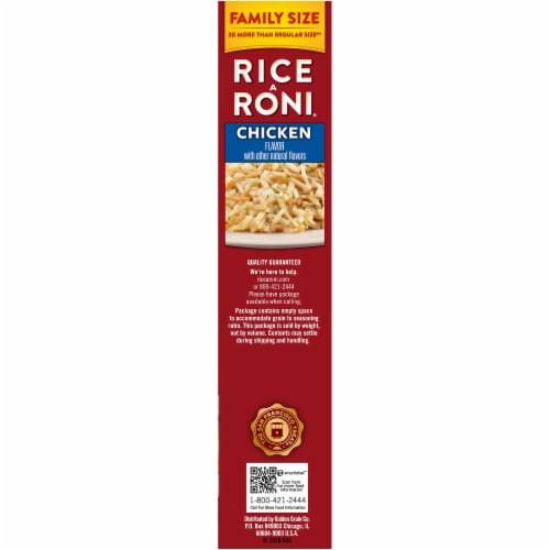 Rice-A-Roni Chicken Flavor Rice Family Size Perspective: right