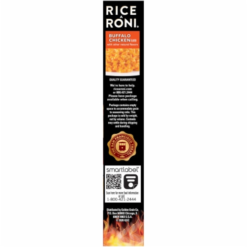 Rice-A-Roni Buffalo Chicken Flavor Rice Perspective: right