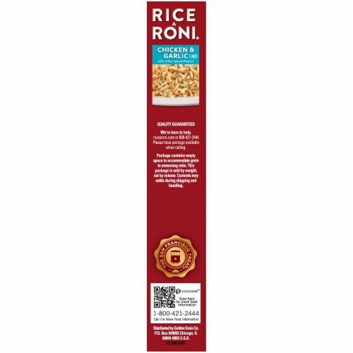 Rice A Roni Chicken & Garlic Flavor Rice Mix Perspective: right