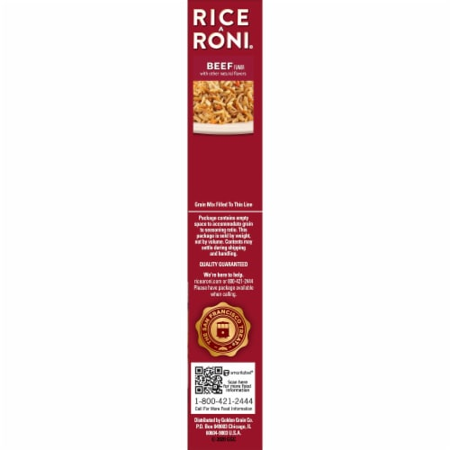 Rice-A-Roni Beef Flavor Rice Perspective: right