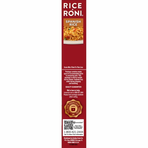 Rice-A-Roni Spanish Rice Perspective: right