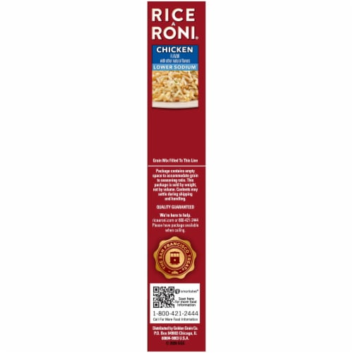 Rice-A-Roni Lower Sodium Chicken Flavor Rice Mix Perspective: right