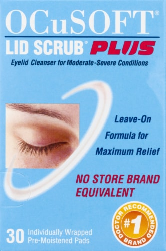 OCuSOFT Lid Scrub Plus Eyelid Cleanser Premoistened Pads 30 Count Perspective: right