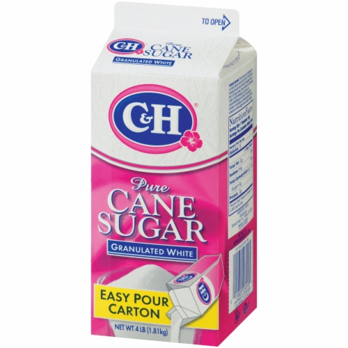 C&H Easy Pour Pure Granulated White Cane Sugar Perspective: right