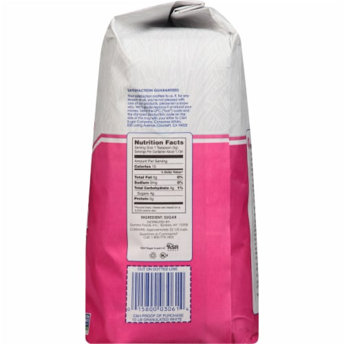 C&H Pure Granulated White Cane Sugar Perspective: right