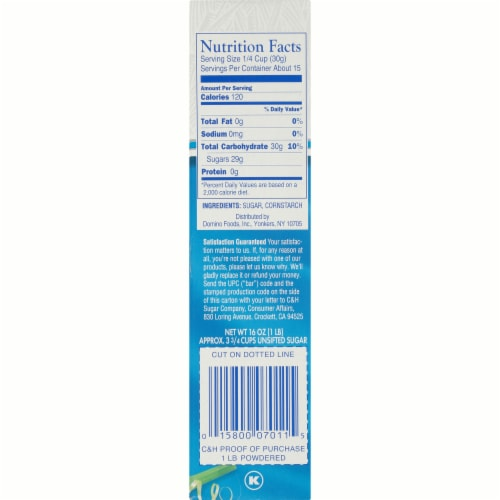C&H Pure Cane Powdered Sugar Perspective: right