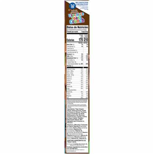 General Mills Chocolate Toast Crunch Cereal Perspective: right