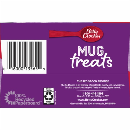 Betty Crocker Hot Fudge Brownie Mug Treat Mix Pouches Perspective: right