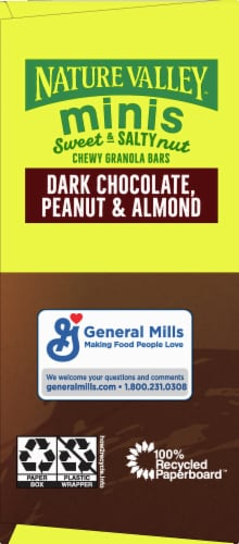 Nature Valley Sweet & Salty Dark Chocolate Peanut and Almond Mini Granola Bars Perspective: right