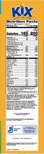 Kix Crispy Corn Puffs Cereal Family Size Perspective: right