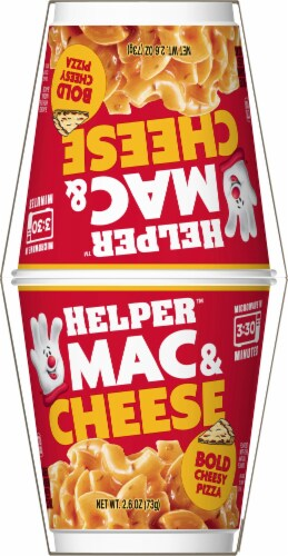 Hamburger Helper Bold Cheesy Pizza Mac & Cheese Microwave Cups Perspective: right