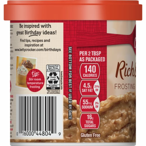 Betty Crocker Rich & Creamy Coconut Pecan Frosting Perspective: right