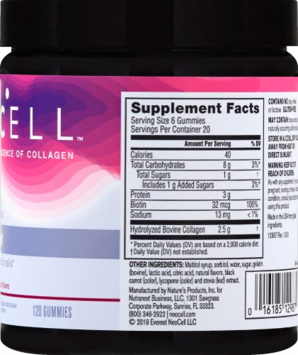 Neocell Gummy Glow Berry Flavor Collagen & Biotin Gummies Perspective: right