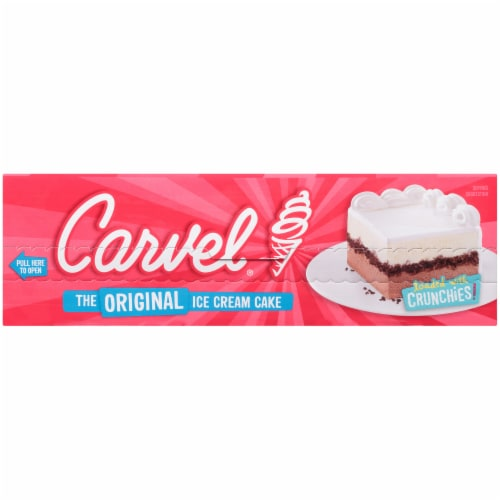 Carvel Celebration Chocolate and Vanilla Ice Cream Cake Perspective: right