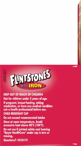 Flintstones with Iron Kids Multivitamin Chewable Tablets 60 Count Perspective: right