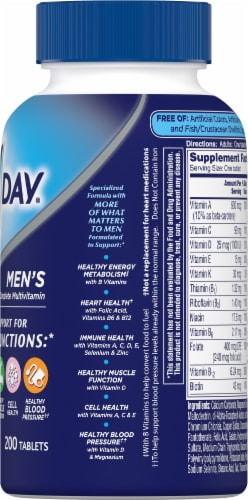One A Day® Men's Health Formula Multivitamin Tablets Perspective: right