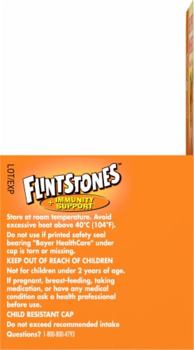 Flinstones Chewable Kids Vitamin Plus Immunity Support with Vitamins A C E & Zinc Perspective: right