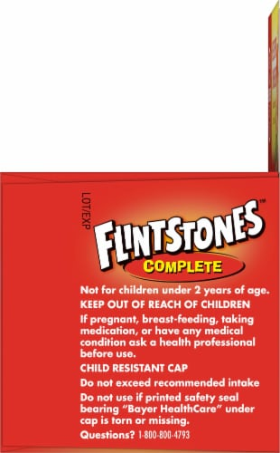 Flintstones Fruit Flavored Kids Multivitamins Chewable Tablets 60 Count Perspective: right