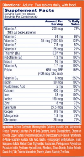 One A Day Women's Multivitamin Tablets Perspective: right