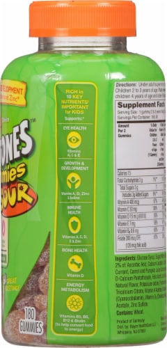 Flintstones Sour Gummies Kids Vitamins with  Vitamins A B6 B12 C D & more Perspective: right