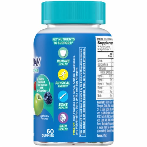 One A Day Teen Gummies for Him Vitacrave Multivitamin Gummies Perspective: right