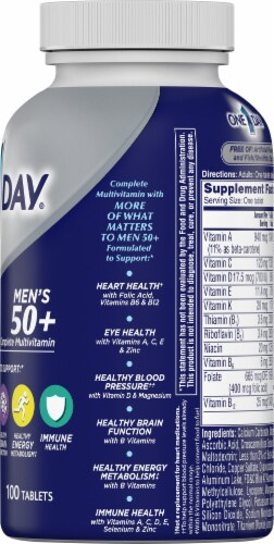 One A Day Mens 50+ Healthy Advantage Perspective: right