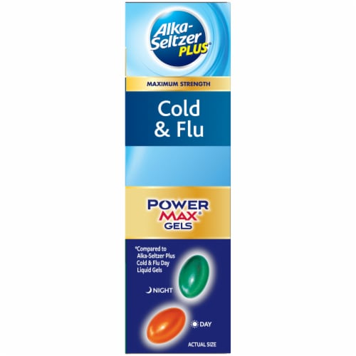 Alka-Seltzer Plus Cold & Flu Non-Drowsy Day & Night PowerMax Liquid Gels Perspective: right